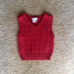 Ralph Lauren Cable-Knit Cotton Vest